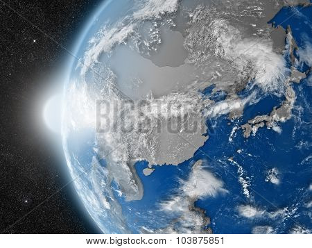 East Asia Region From Space