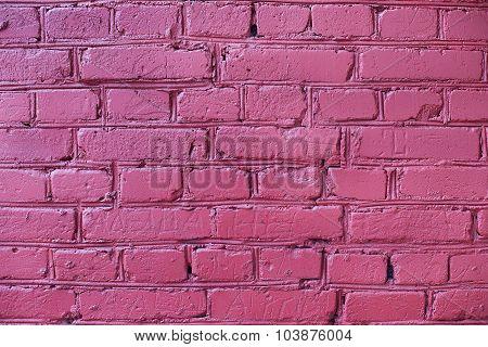Burgundy Brick Wall