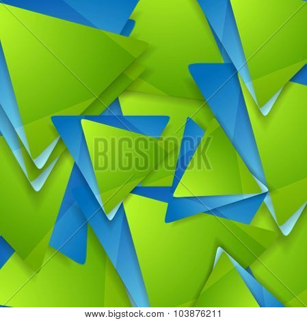 Tech geometric background. Triangles pattern. Vector design