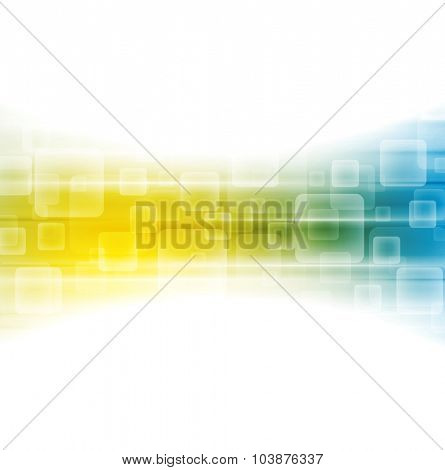 Yellow blue shiny tech vector background