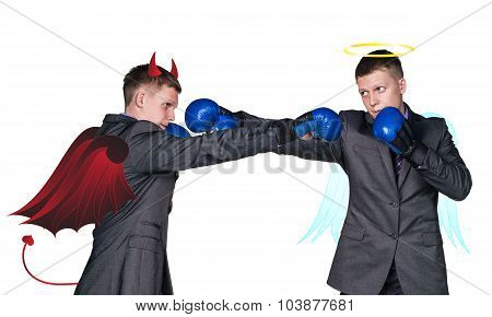 struggle between good and evil