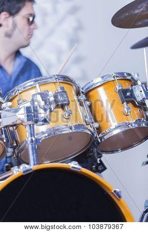 Drum Set And Drummer
