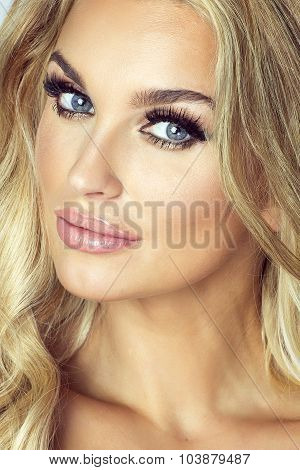 Beauty Portrait Of Sexy Blonde Woman.