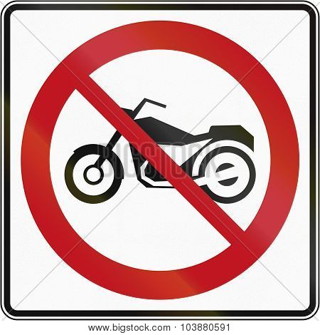 No Motorcycles In Canada