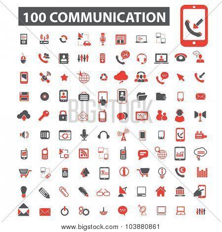 100 communication icons