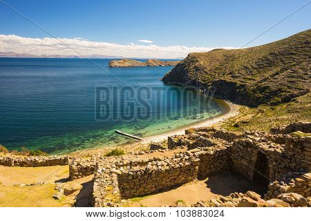 Beach On Island Of The Sun, Titicaca Lake, Bolivia