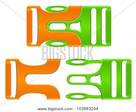 Plastic Buckle Clasp Vector Illustration