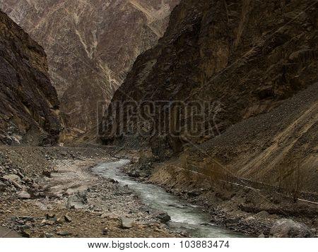 Steep-sided Of Mountain Taken In Ladakh Region, India