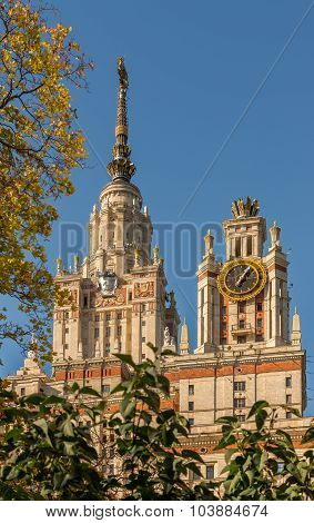 Building Moscow State University Lomonosov.