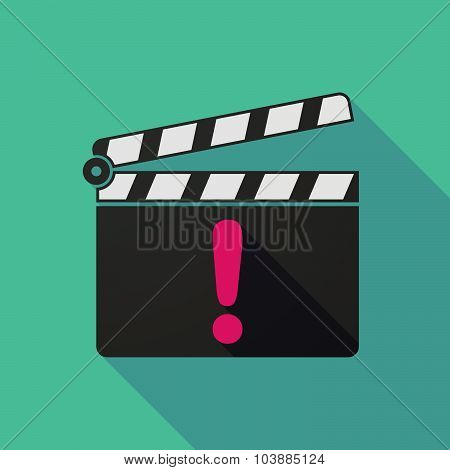 Long Shadow Clapper Board With An Admiration Sign