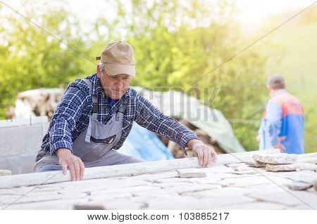Senior man working