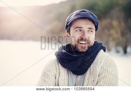 Man in woolen sweater