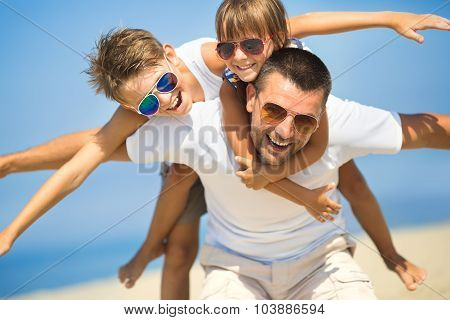 Family, Vacation, Tourism Concept