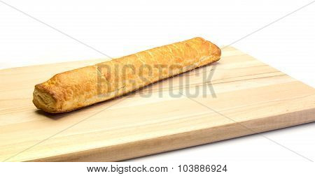 Almond Bar On A Wooden Plate