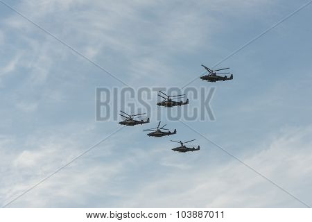 Group Of Helicopters Ka-52