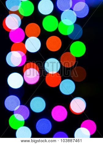 Holiday lights bokeh abstract background.