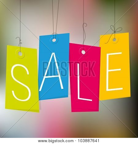 Sale tags. Vector template.