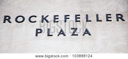 NEW YORK CITY, USA - SEPTEMBER, 2014: Rockefeller Plaza in New York City