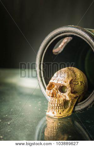 Skull Inside Door Knob
