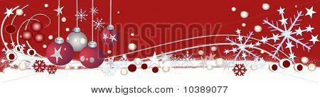 Red festive christmas header