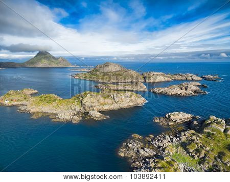 Rocky Coast On Lofoten