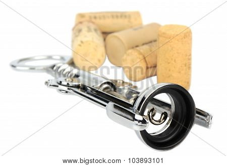Corkscrew and bottle cork