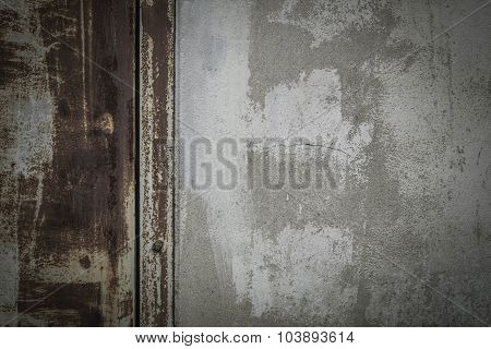 Background Of Gates And Walls Discolored.