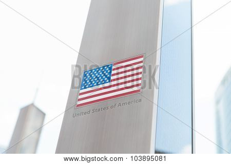 Series Of Flags On Pole - Usa