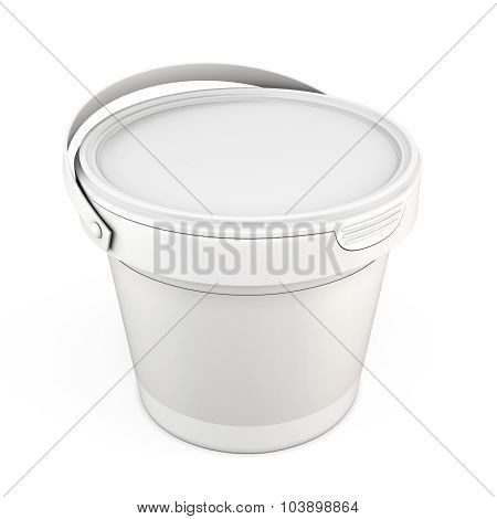 Blank White Plastic Bucket For Putty