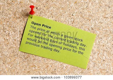 Open Price