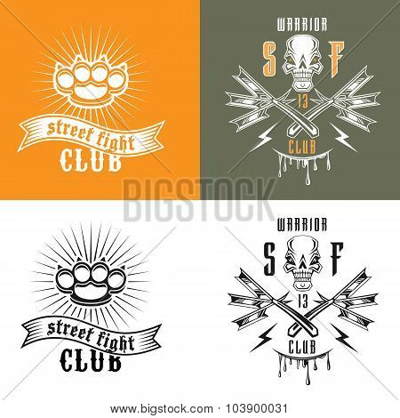 Street Fighting Club Emblems