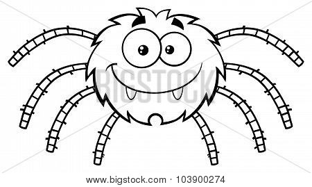Black And White Funny Spider