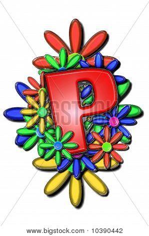 Alphabet Flower Cushion P