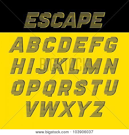 Fast speed style alphabet vector illustration