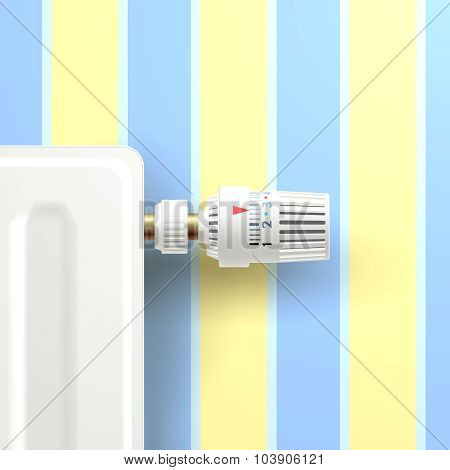 Radiator With Temperature Knob