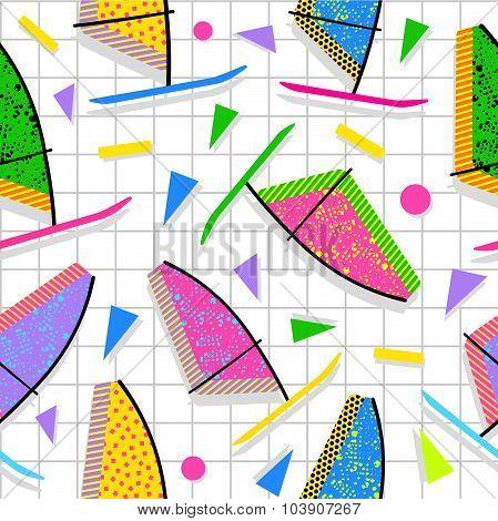 Retro Vintage Summer Fun 80S Pattern Background