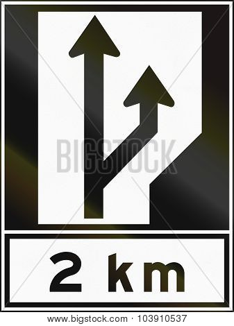 Two Lanes In Canada
