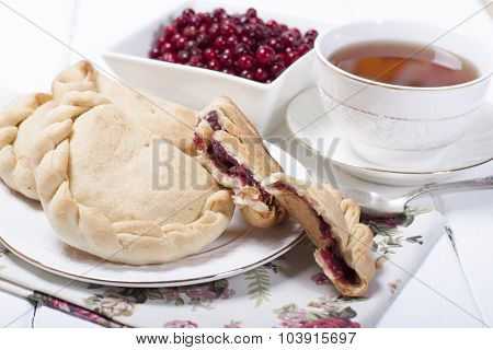 Pies From Pastry Stuffed With Berries Cranberries