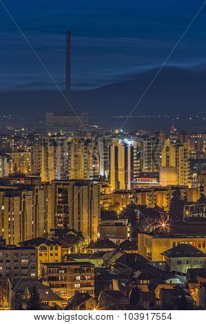 Twilight City Lights In Brasov