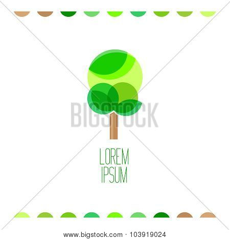 Tree Flat Colors Logo Template.