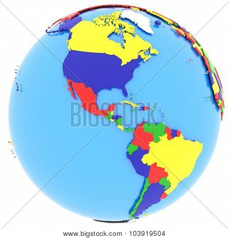 Western Hemisphere On Earth