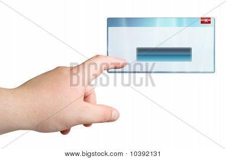 Thumb push on window button
