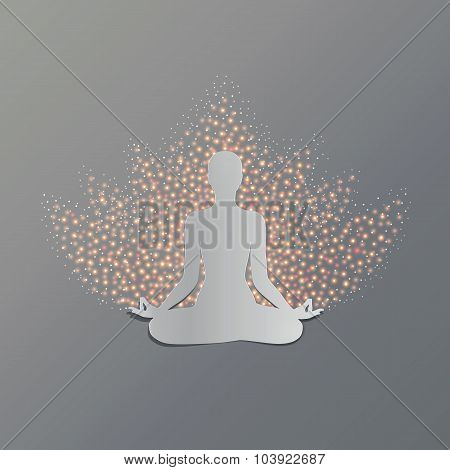 Yoga asana lotus