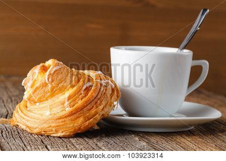 Mother's Pastry On Wooden Table