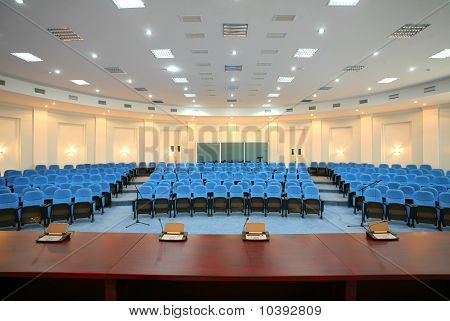 big empty business conference hall