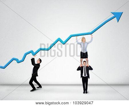 Blue arrow report growth statistics