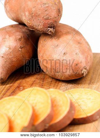 Sweet potato on the table