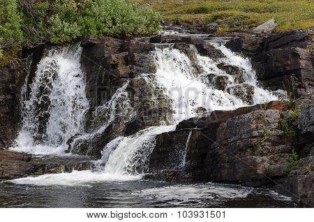 Beautiful Waterfall On Small River