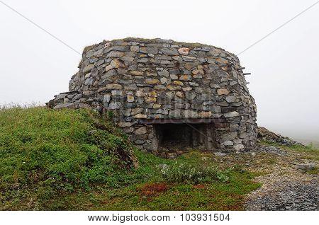 German Bunker Of World War Ii In Tundra