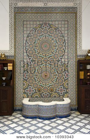 Fountain With Ceramic Mosaics